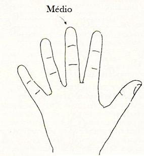 dedos médio quiromancia futuro mãos