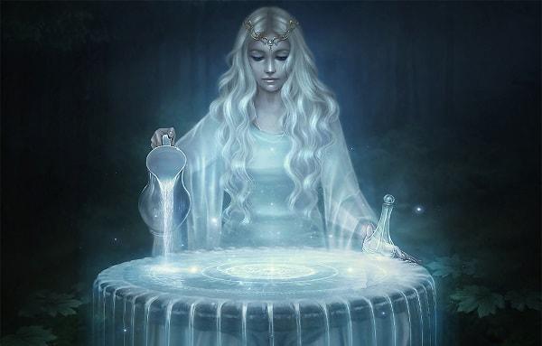 espelho magia água adivinhação proteção